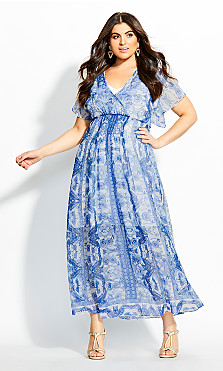 Mykonos Maxi Dress - blue