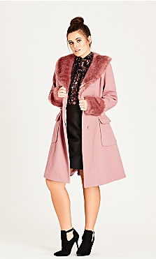 Women's Plus Size Make Me Blush Coat