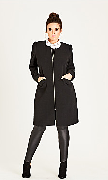 Women's Plus Size Simple Elegance Coat