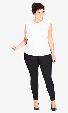 Plus Size Asha Short High Rise Skinny Jean - black