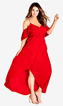 Women's Plus Size Miss Jessica Maxi Dress - scarlet