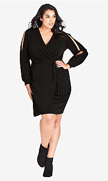 Women's Plus Size Split Sleeve Dress