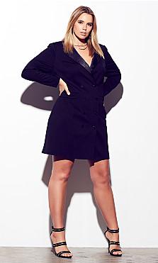 Women's Plus Size Tuxedo Dress