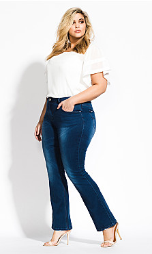 Plus Size Harley Regular Bootleg Jean - denim