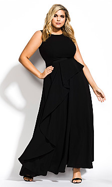 Women's Plus Size Antilla Maxi Dress - black