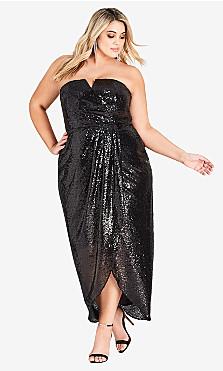 Women's Plus Size Sequin Siren Maxi Dress