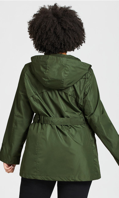 Side Buckle Anorak - khaki