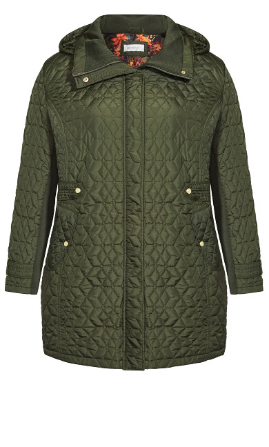 Quilted Walking Jacket - green