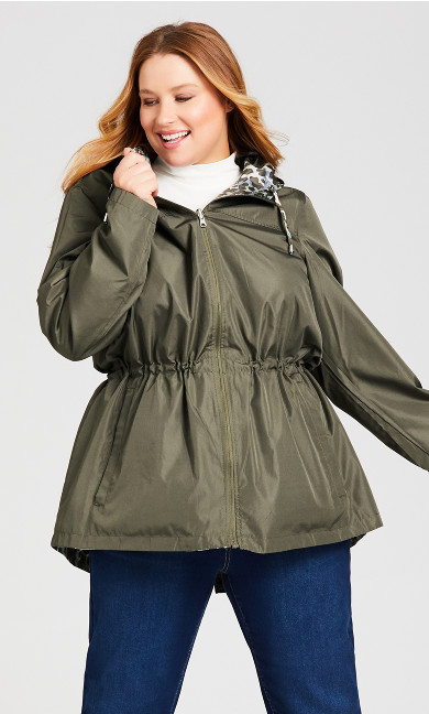 Reversible Camo to Sage Green Anorak