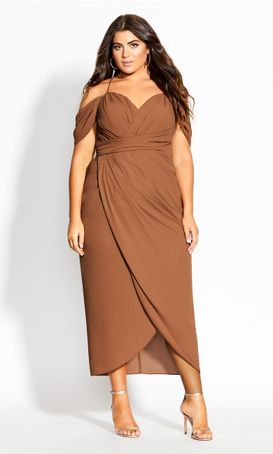 Women's Plus Size Entwine Maxi Dress - toffee