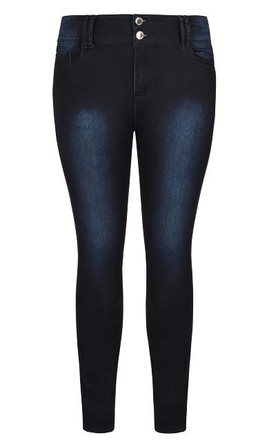 Asha Regular High Rise Skinny Jean - denim