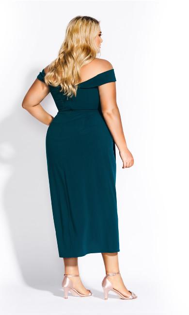 Rippled Love Dress - emerald