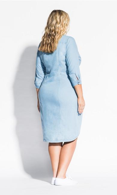 Chambray Twist Dress - chambray