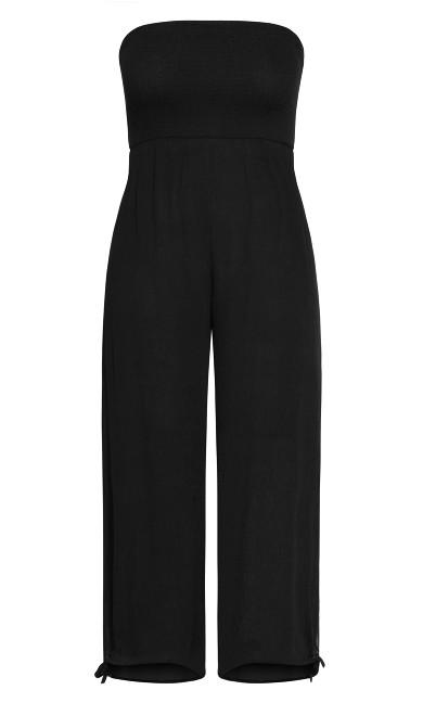 Smocked Jumpsuit - black