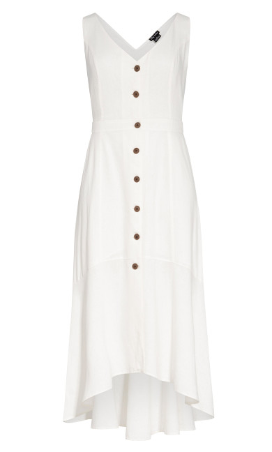 Sweetie Button Maxi Dress - ivory