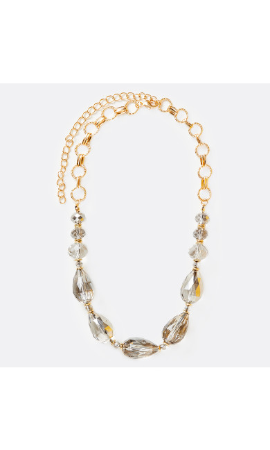 Gold Tone Beaded Short Necklace