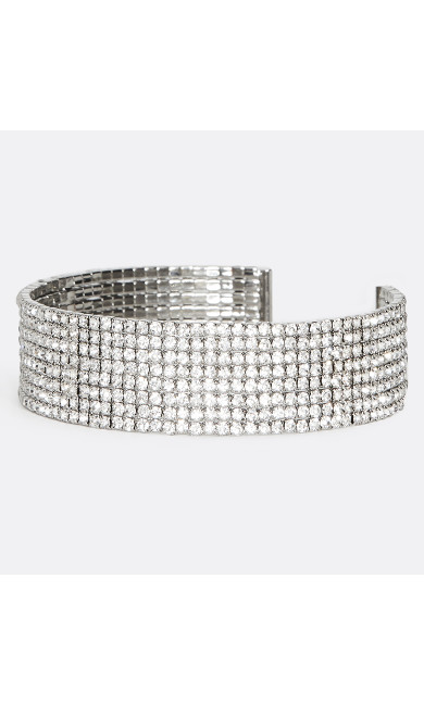 Sparkly Diamond Embellished Cuff