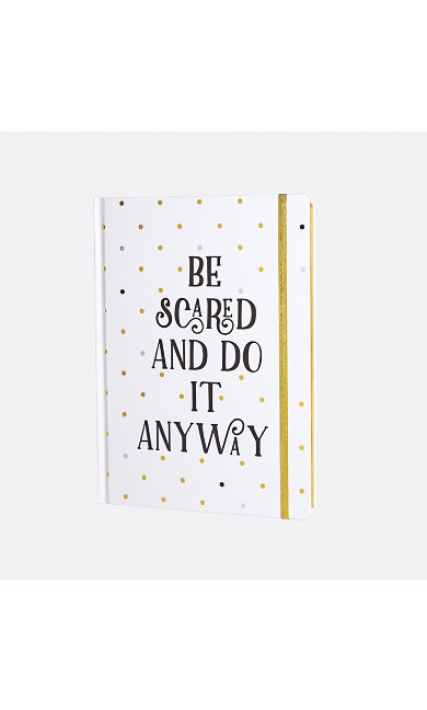 Be Scared And Do It Anyway Gold Script Journal