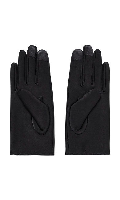 Quilted Touch Screen Gloves - black