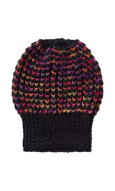 Multicolored Hat - black