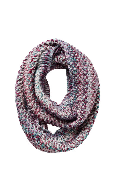 Mixed Stitch Infinity Scarf