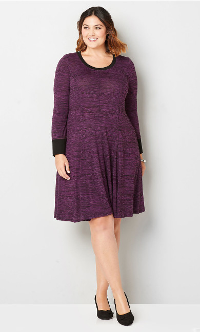 Spacedye Hacci Fit and Flare Dress