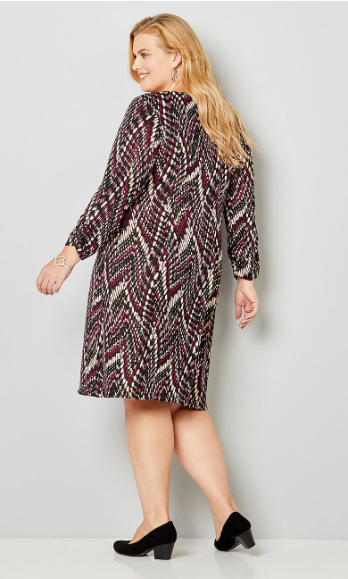 A-Line Scarf Dress - abstract print