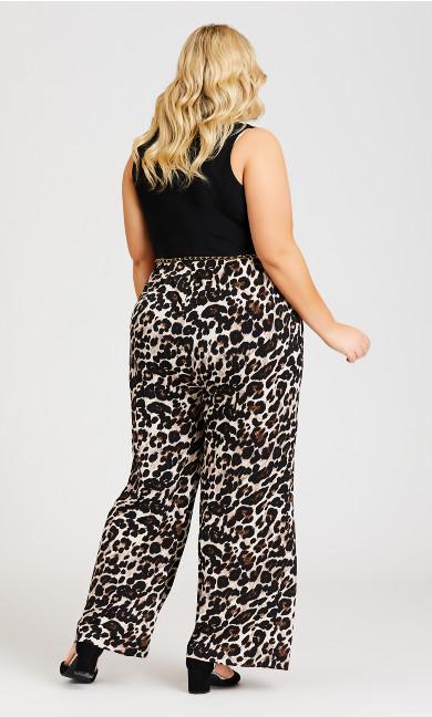 Black and Leopard Jumpsuit - tan