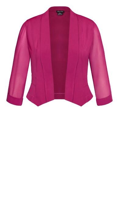 Cropped Blazer Jacket - raspberry