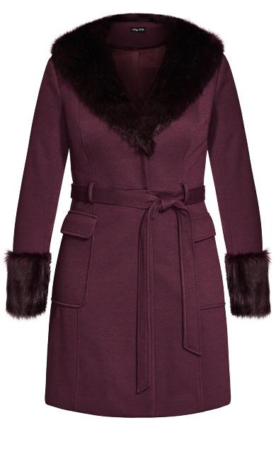 Make Me Blush Coat - plum