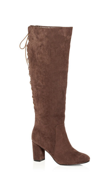 Women's Plus Size Perry Knee High Boot - mocha