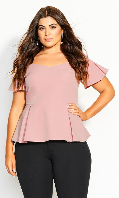 Plus Size Aria Top - blush