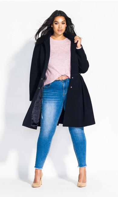 Women's Plus Size Blushing Belle Coat - navy