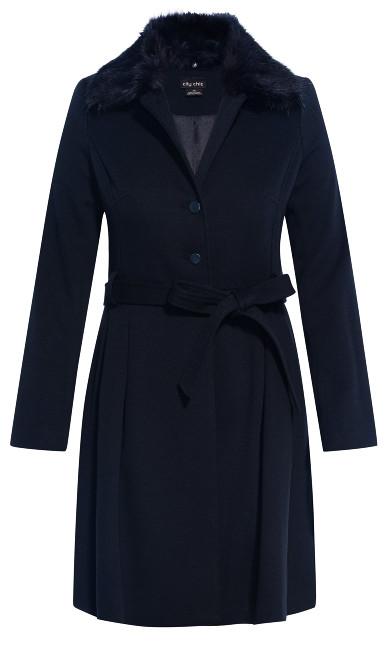 Blushing Belle Coat - navy