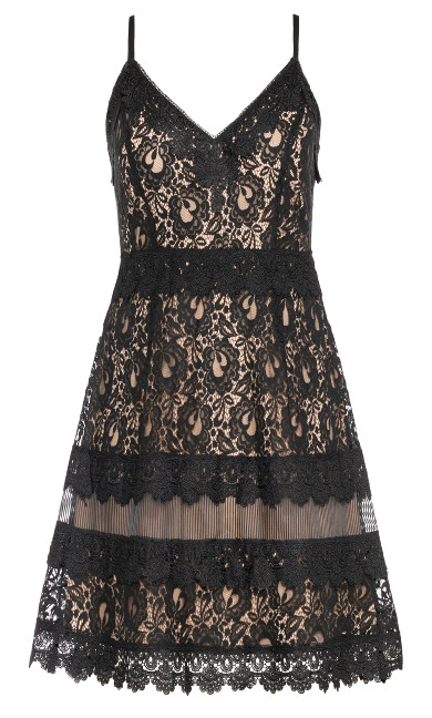 Nouveau Lace Dress - beige
