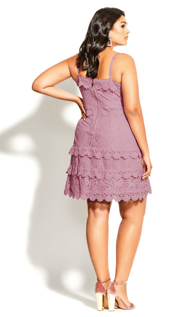 Nouveau Lace Dress - pink
