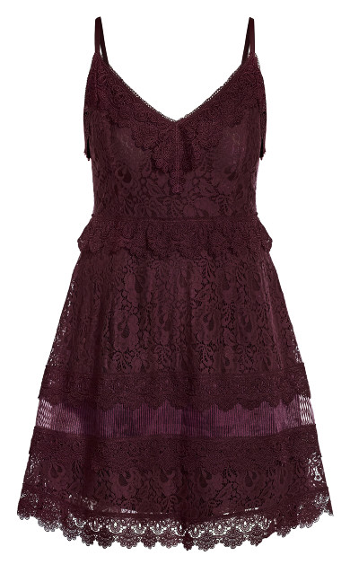Nouveau Lace Dress - plum