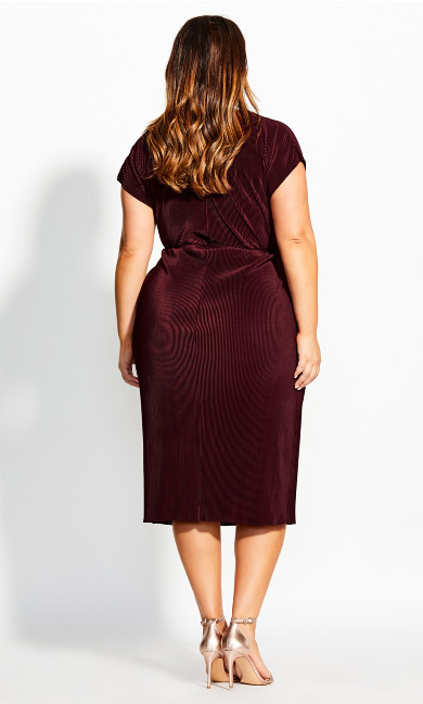 Baby Pleat Dress - ruby