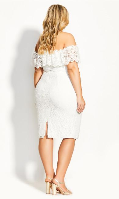 Lace Flourish Dress - ivory