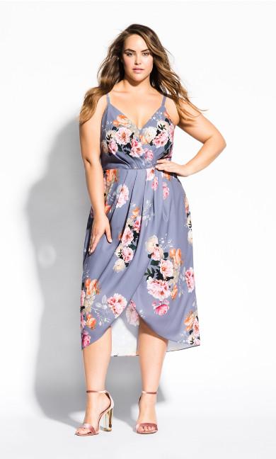 Women's Plus Size Florence Dress - grey