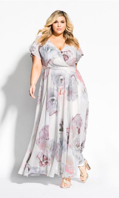 Women's Plus Size Bella Rosa Maxi Dress - ivory