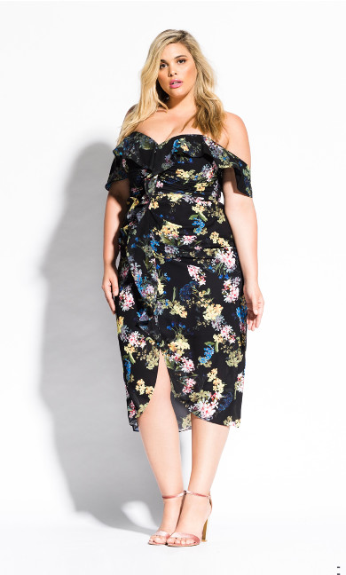 Women's Plus Size Honeysuckle Dress - black