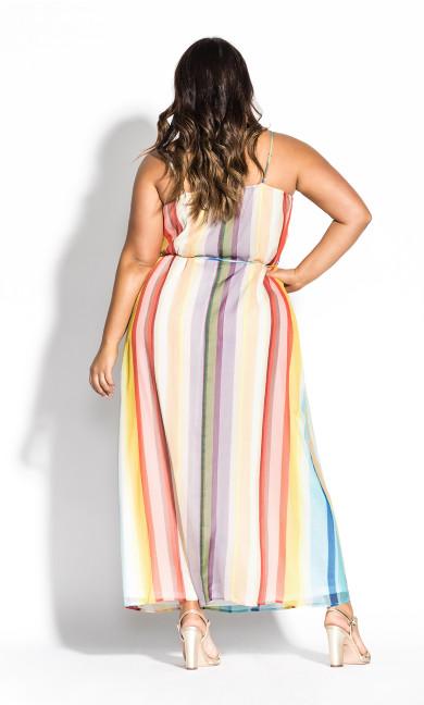 Gelato Stripe Maxi Dress - sunset
