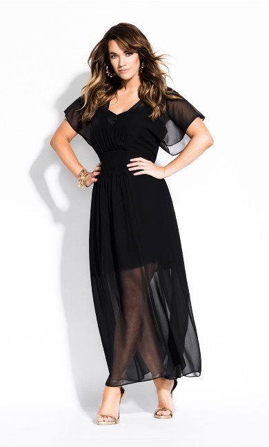 Women's Plus Size Spirited Maxi Dress - black