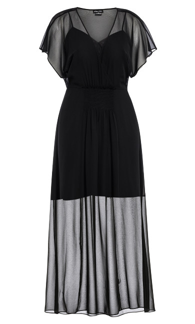 Spirited Maxi Dress - black