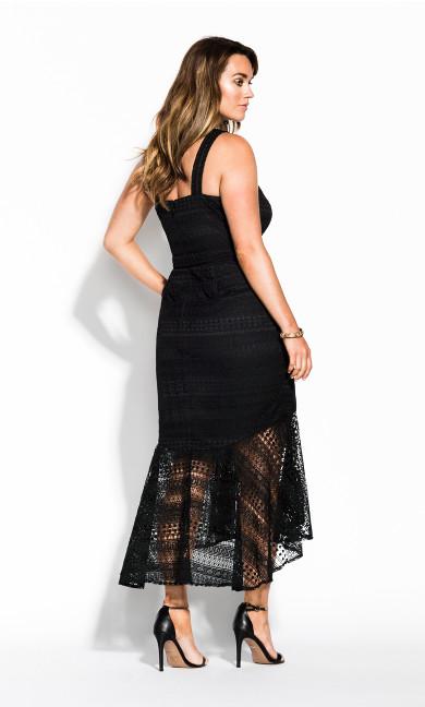 Simmer Lace Dress - black