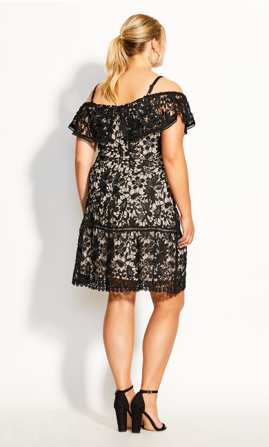 Dream Of Lace Dress - black