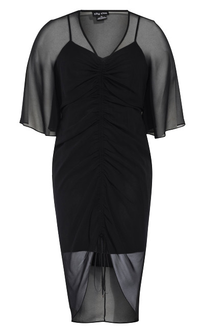 Drawn Up Dress - black