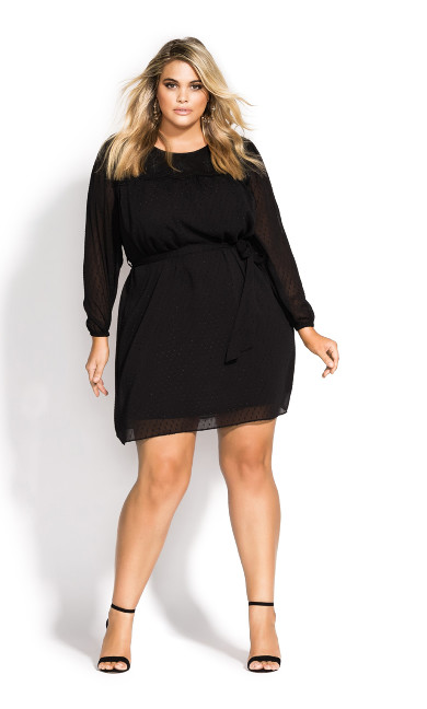 Women's Plus Size Dark Side Dress - black