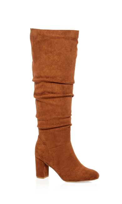 Women's Plus Size Petra Knee High Boot - tan